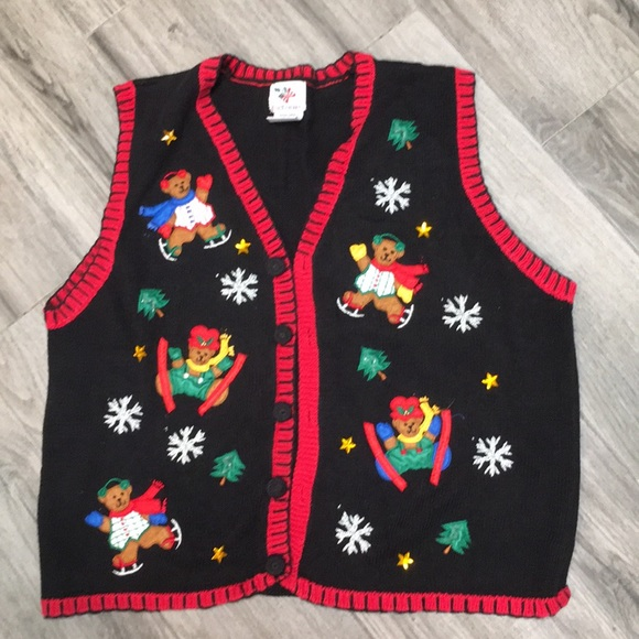Ugly Christmas Sweater Sweaters - Vintage ugly Christmas sweater vest